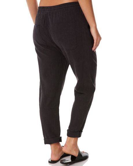 BLACK WOMENS CLOTHING RUSTY PANTS - PAL0994BLK