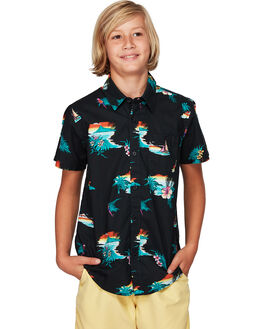 BLACK ORANGE KIDS BOYS BILLABONG TOPS - BB-8592205-BNG