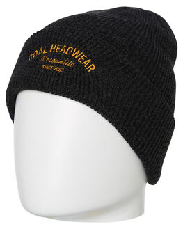 HEATHER BLACK MENS ACCESSORIES COAL HEADWEAR - 237102HBLK