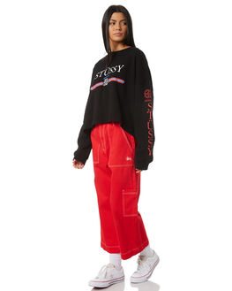BLACK WOMENS CLOTHING STUSSY JUMPERS - ST195315BLK