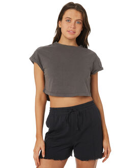 WASHED CHARCOAL WOMENS CLOTHING SILENT THEORY TEES - 6015013CHAR