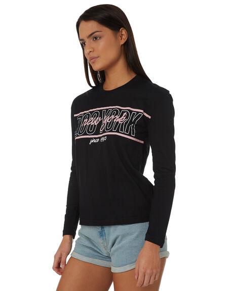 BLACK WOMENS CLOTHING ZOO YORK TEES - ZY-WLC8372BLK