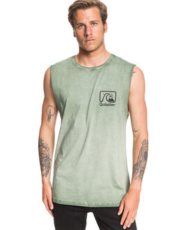 AGAVE GREEN MENS CLOTHING QUIKSILVER SINGLETS - EQYZT05663-GZC0