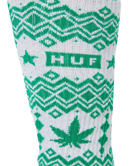 GREEN MENS CLOTHING HUF SOCKS + UNDERWEAR - SK00412-GREEN