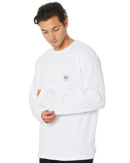 WHITE MENS CLOTHING STUSSY TEES - ST006112WHT