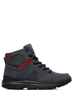 GREY/BLACK/RED MENS FOOTWEAR DC SHOES BOOTS - ADYB700026-XSKR