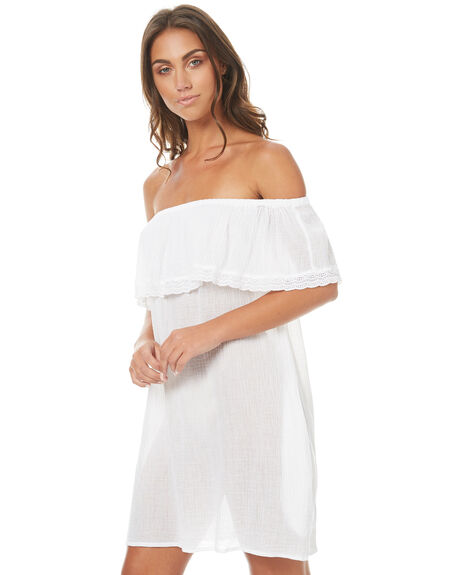 WHITE WOMENS CLOTHING RUSTY DRESSES - SCL0274WHITE