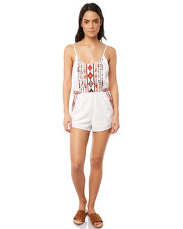 WHITE WOMENS CLOTHING TIGERLILY PLAYSUITS + OVERALLS - T381429WHT