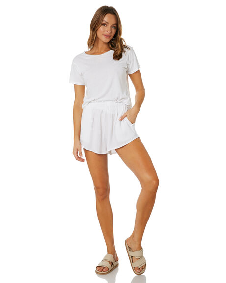 WHITE WOMENS CLOTHING SNDYS SHORTS - SFSH001WHT