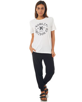 BLACK WOMENS CLOTHING HURLEY PANTS - AGPTHRLY00A
