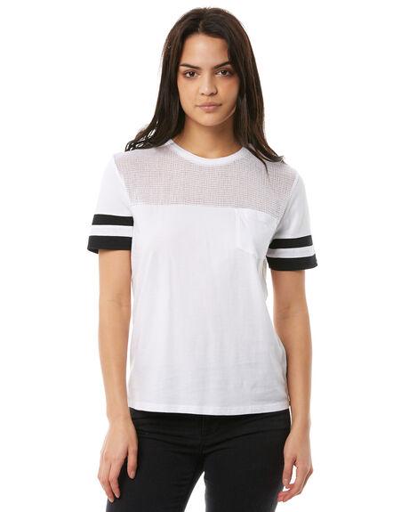 WHITE WOMENS CLOTHING ELEMENT TEES - 286006WHT