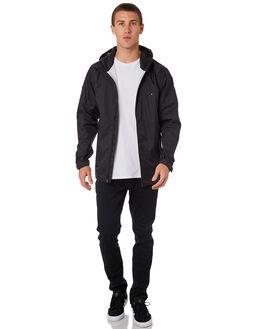 BLACK MENS CLOTHING HUFFER JACKETS - MRJAP1701BLK