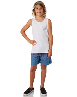 WHITE KIDS BOYS SWELL TOPS - S3182274WHITE