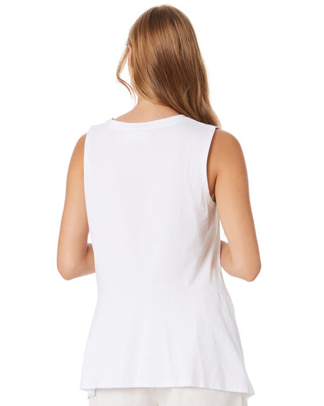 WHITE WOMENS CLOTHING GINGER AND SMART SINGLETS - R20111WHT