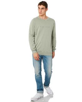 VINTAGE SAGE MENS CLOTHING RHYTHM JUMPERS - OCT18M-FL01-SAG