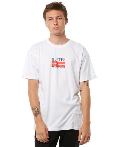 WHITE MENS CLOTHING HUFFER TEES - MTE81S220-579WHT