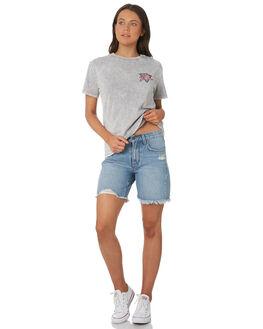 STONE GREY WOMENS CLOTHING RUSTY TEES - TTL0981-SOG