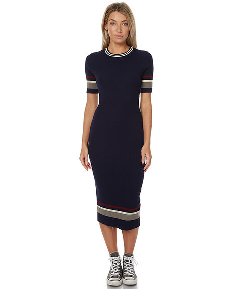 NAVY CREAM BURGANDY WOMENS CLOTHING THE HIDDEN WAY DRESSES - H8172445NVY