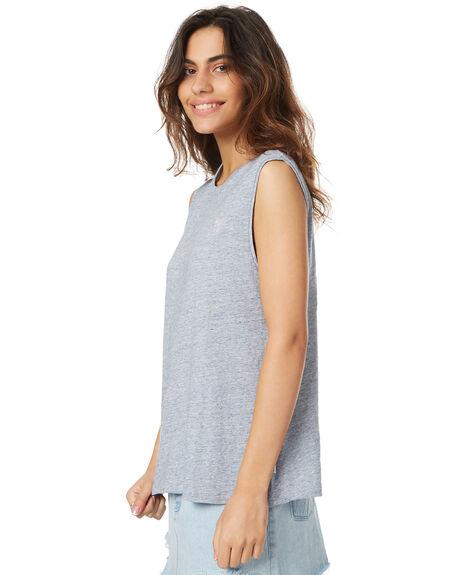 GREY MARLE WOMENS CLOTHING RVCA SINGLETS - R271008GREY