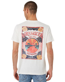 VINTAGE WHITE MENS CLOTHING WRANGLER TEES - W-901791-066