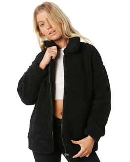 BLACK WOMENS CLOTHING ALL ABOUT EVE JACKETS - 6415043BLK