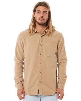 OVERDYED TAN MENS CLOTHING THRILLS SHIRTS - TDP-222COTAN
