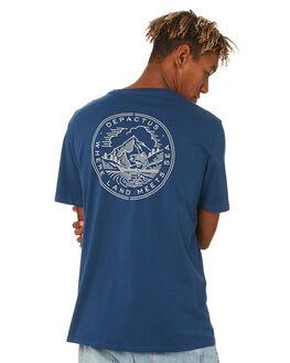 NAVY BLUE MENS CLOTHING DEPACTUS TEES - D5203004NAVY