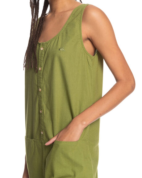 CALLISTE GREEN WOMENS CLOTHING QUIKSILVER PLAYSUITS + OVERALLS - EQWWD03017-GMV0