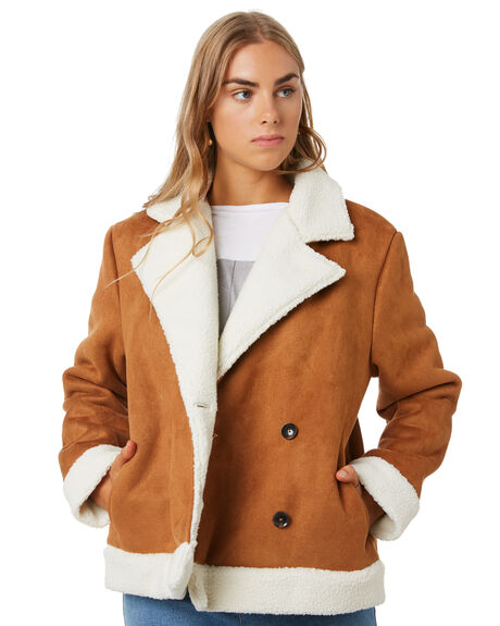 TAN WITH IVORY WOMENS CLOTHING THE FIFTH LABEL JACKETS - 402001152TANI