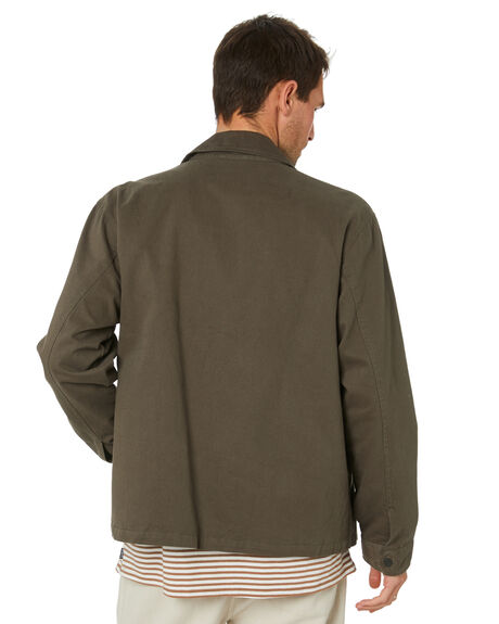 OLIVE MENS CLOTHING NO NEWS JACKETS - N5214382OLV