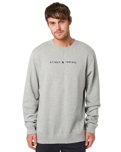 GREY MARLE MENS CLOTHING AFENDS JUMPERS - M191501GRYML