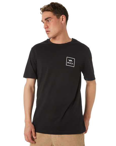 BLACK MENS CLOTHING RVCA TEES - R172062BLK