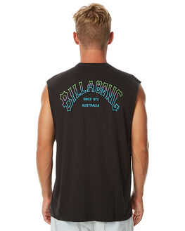 BLACK MENS CLOTHING BILLABONG SINGLETS - 9575502BLK