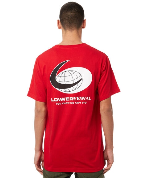RED WHITE OUTLET MENS LOWER TEES - LO18Q3MTS01RED