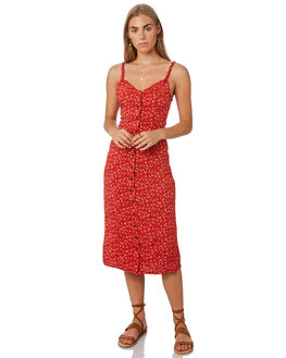 RED WOMENS CLOTHING THE HIDDEN WAY DRESSES - H8201452RED