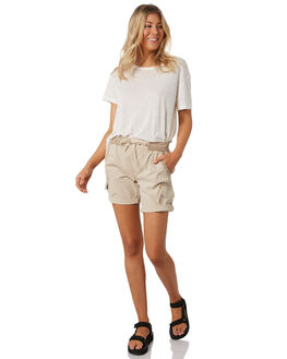WASHED TAN WOMENS CLOTHING SWELL SHORTS - S8201194WTAN