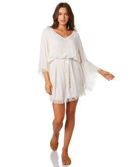 WHITE WOMENS CLOTHING TIGERLILY DRESSES - T392471WHT