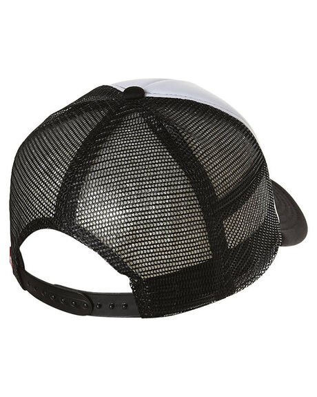 BLACK WHITE MENS ACCESSORIES DEUS EX MACHINA HEADWEAR - DMA57994BWHT
