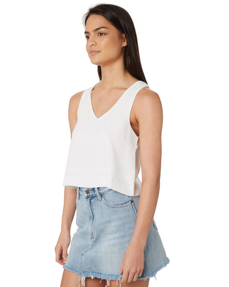 WHITE WOMENS CLOTHING ELWOOD FASHION TOPS - W84301-653