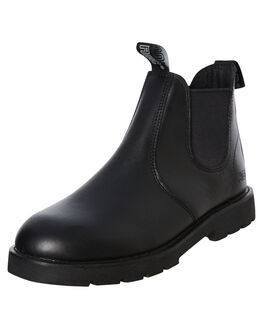 BLACK LEATHER WOMENS FOOTWEAR ROC BOOTS AUSTRALIA BOOTS - JUMBUKBLK