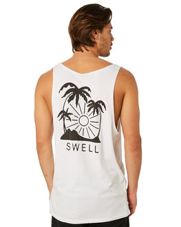 WHITE OUTLET MENS SWELL SINGLETS - S5182272WHITE