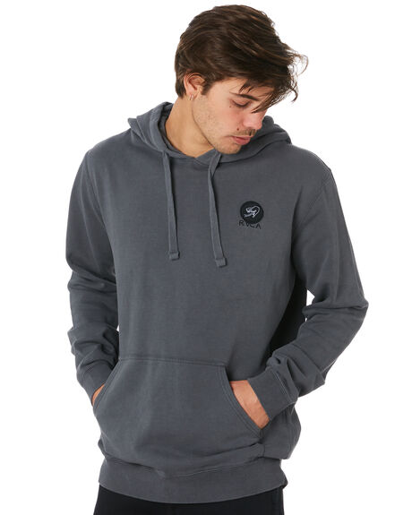 PIRATE BLACK MENS CLOTHING RVCA JUMPERS - R193161PBLK