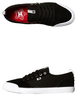 BLACK MENS FOOTWEAR DC SHOES SKATE SHOES - ADYS300203BLK