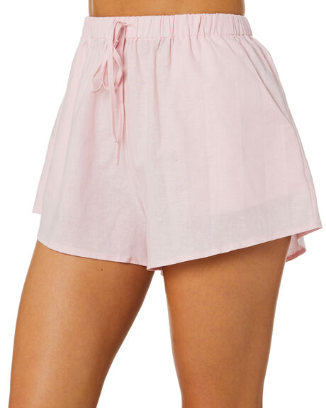 BABY PINK WOMENS CLOTHING SNDYS SHORTS - SESH019BPNK