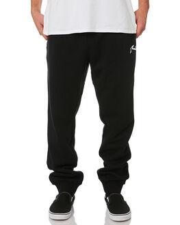 BLACK MENS CLOTHING RUSTY PANTS - PAM0852BLK