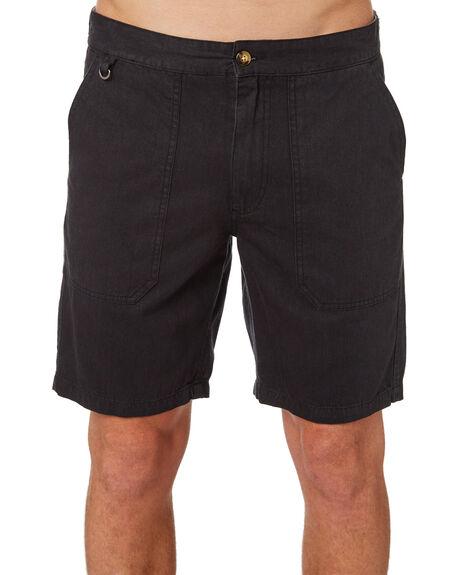 BLACK MENS CLOTHING AFENDS SHORTS - M184304BLK