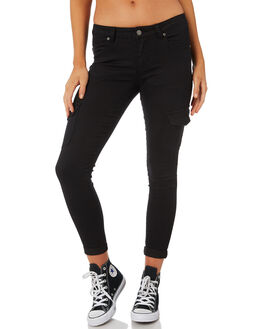 BLACK WOMENS CLOTHING RUSTY PANTS - PAL0911BLK
