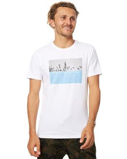 WHITE MENS CLOTHING RIP CURL TEES - CTEDO21000
