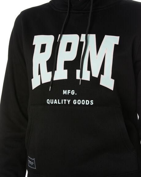 BLACK WOMENS CLOTHING RPM HOODIES + SWEATS - 21PW12BBLK