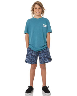 WASHED SEA GREEN KIDS BOYS RUSTY TOPS - TTB0595WSG